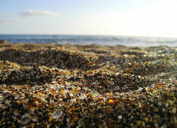 Glass Beach in California