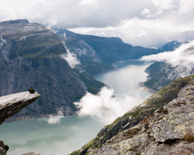 Trolltunga (The Troll's Tongue Rock) in Hardanger, Norway