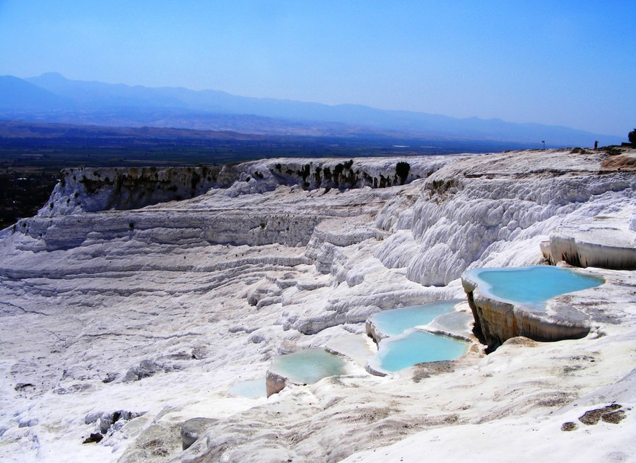 "Pamukkale (""Cotton castle"") in Turkey"