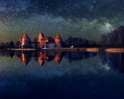 Trakai Island Castle in Lithuania