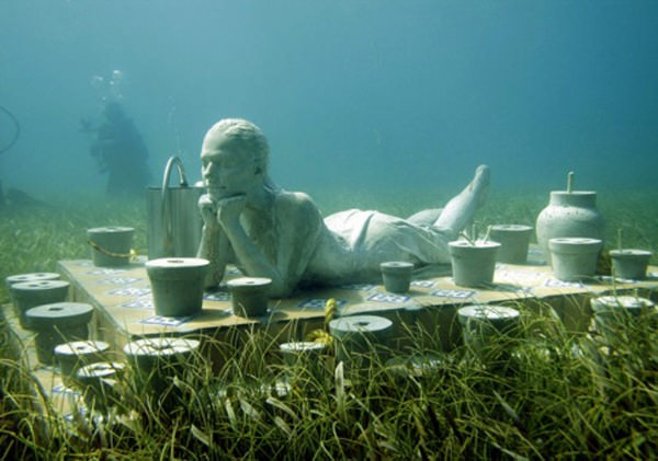 Cancun Underwater Museum in Mexico