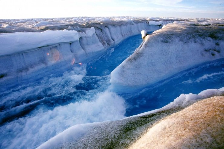Ice Canyon in Greenland