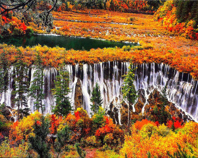 Picturesque Landscape in Jiuzhaigou Valley, China