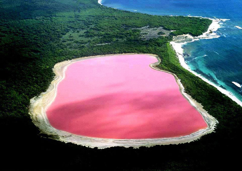 Pink Lakes – Rare Natural Wonders