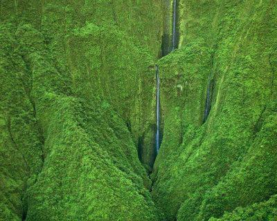 Spectacular Waterfall in Maui, Hawaii