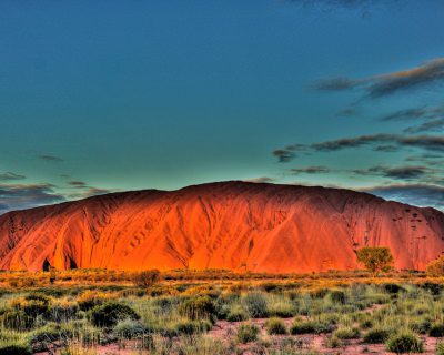 Sacred Uluru Rock in Australia