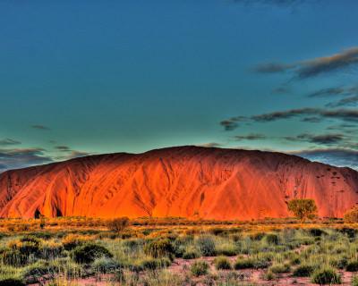 Sacred Uluru Rock in Australia