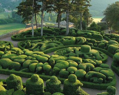 Royal Gardens of Marqueyssac in France