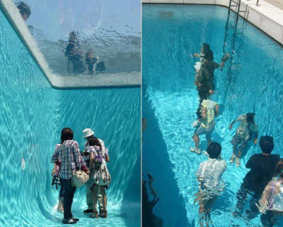 Fake Swimming Pool in Japan