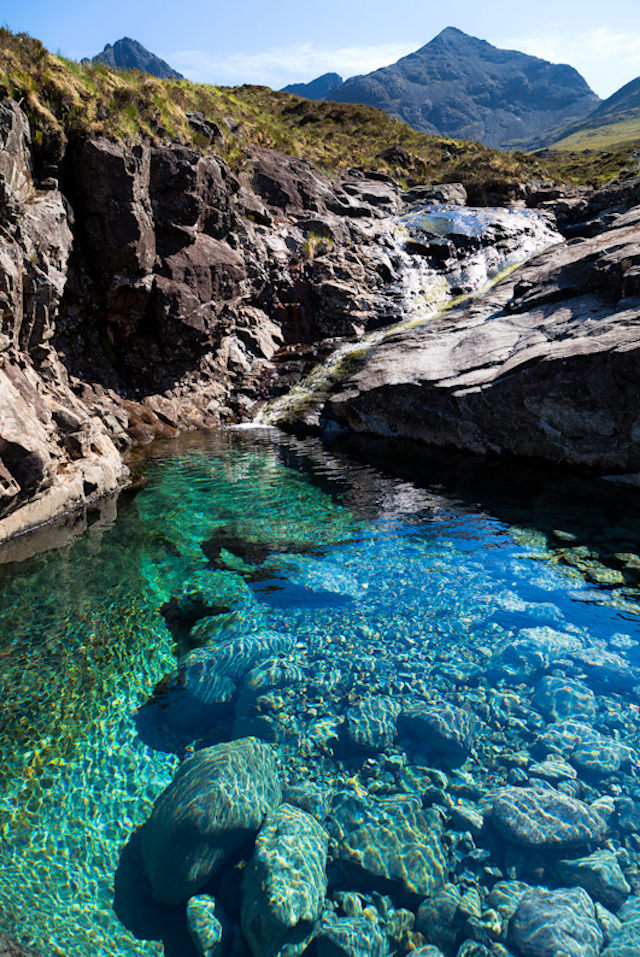 Beautiful Fairy Pools in Scotland