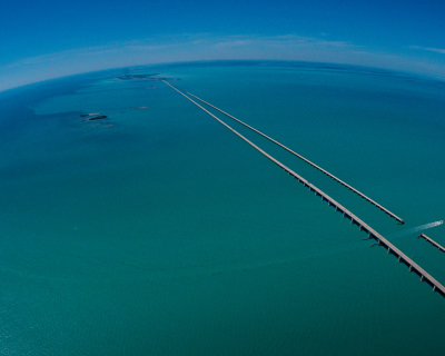 The Seven Mile Bridge in Florida, USA