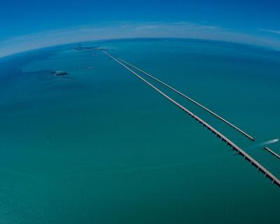 The Seven Mile Bridge in Florida, USA