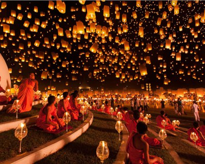 The Shining Yi Peng Festival in Thailand