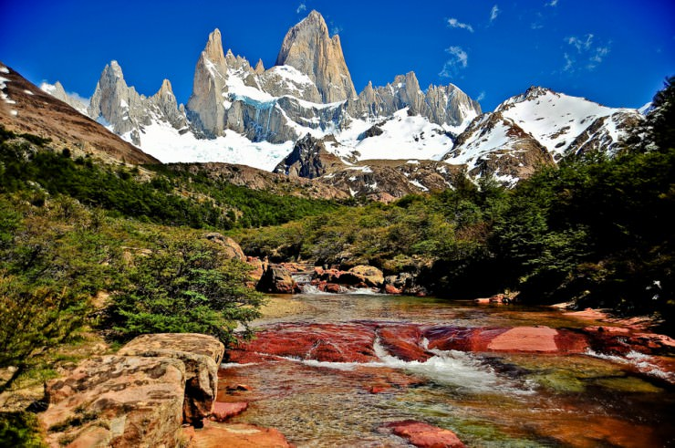 The Challenging Mount Fitz Roy on the Border of Argentina and Chile