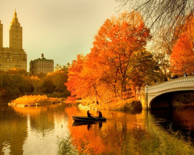 Beautiful Fall in New York's Central Park, USA