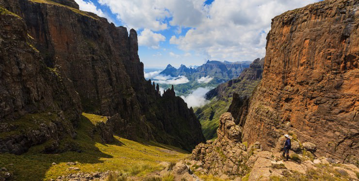 Rock Art and Versatile Nature in the Drakensberg Mountains in South Africa