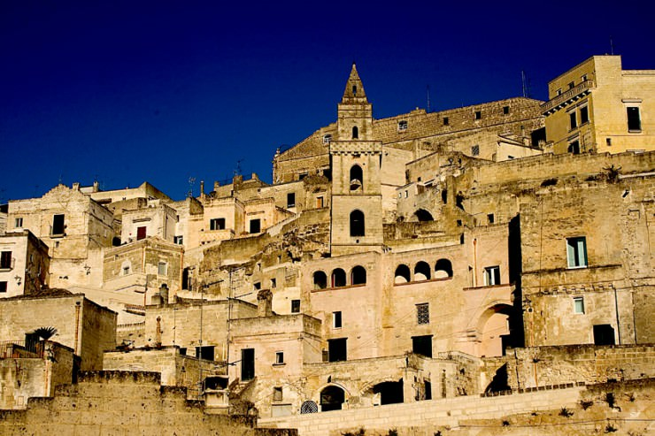 Ancient Cave Town Matera in Southern Italy