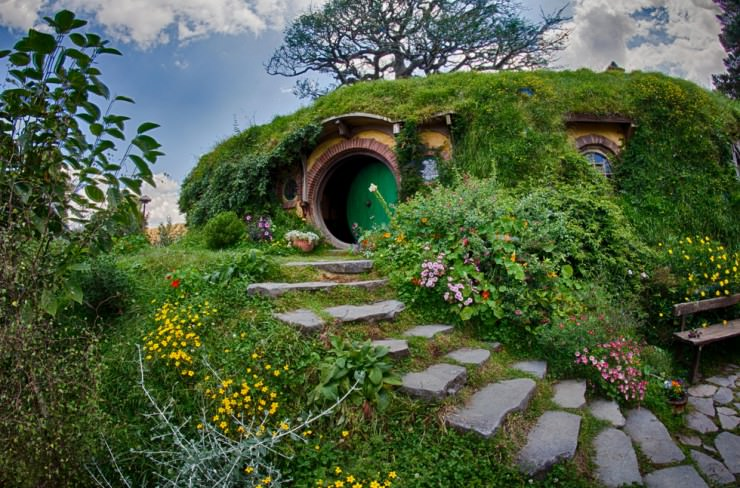نيوزيلندا Wallpaper: The Real Hobbit Village In Matamata, New