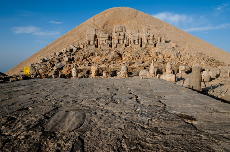See the Ancient Statues Near the Royal Tomb in Mount Nemrut, Turkey
