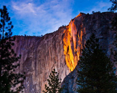 Horsetail Fall – a Firefall in Yosemite National Park, USA