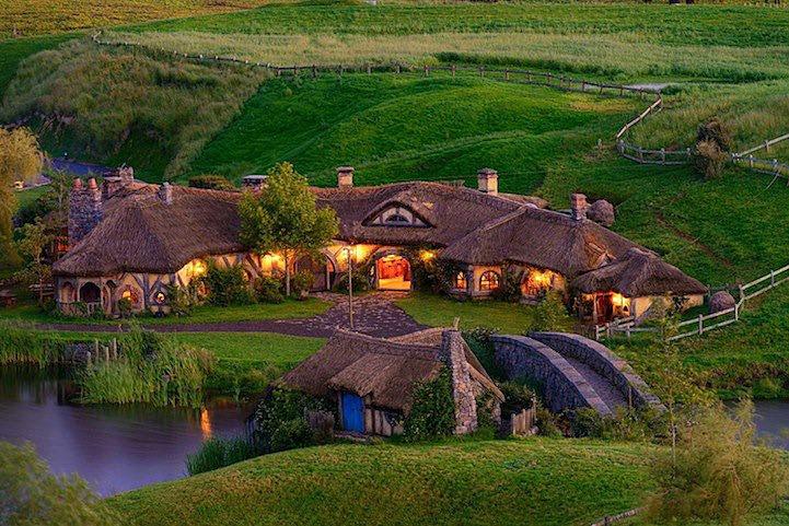 The Green Dragon Pub in Hobbit Village Hobbiton, New Zealand
