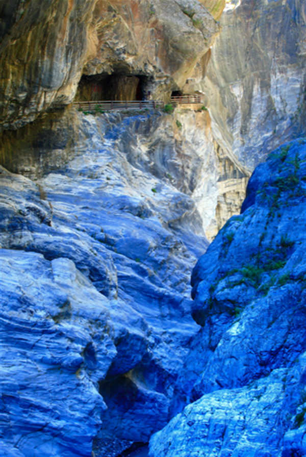 The Marble Canyons In Beautiful Taroko National Park