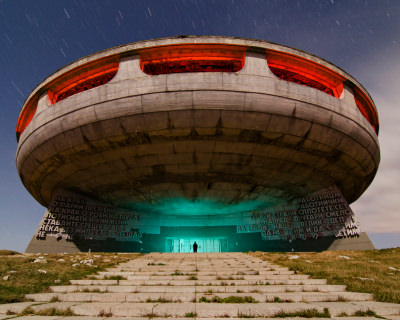 Spaceship Looking Buzludzha Monument in Bulgaria