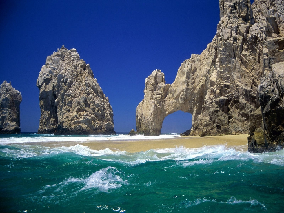 A Picturesque Rock Formation at the Lands End, Mexico