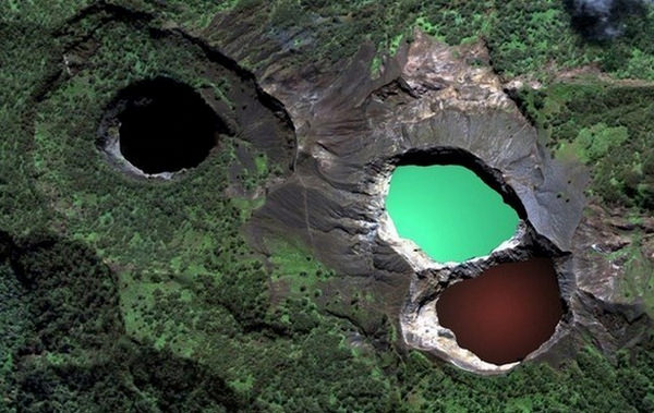 The Changing Colors of Water in Sacred Kelimutu Lakes, Indonesia