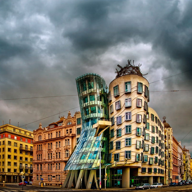 The Surreal Dancing House in Prague, Czech Republic