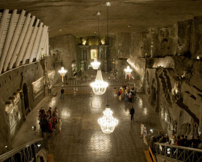 Visit the Underground Cathedral in Wieliczka Salt Mine, Poland