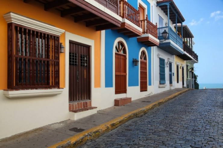 Colorful Streets And Houses In Old San Juan Puerto Rico
