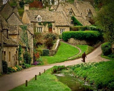 A Postcard Beautiful English Village of Bibury, UK