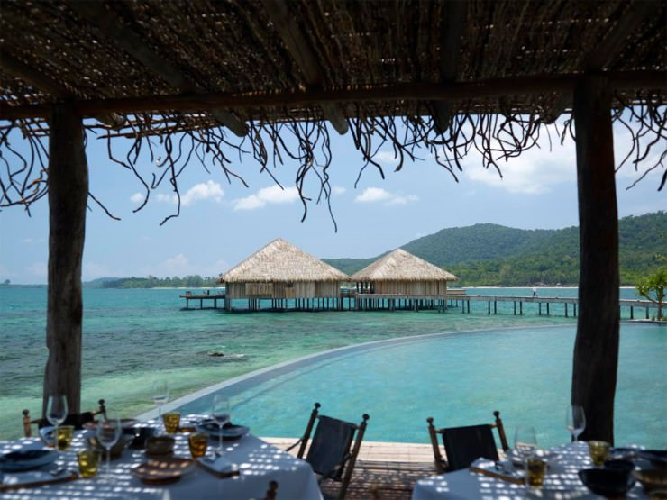 The Romantic Dinner at the Vista Restaurant, Song Saa Island, Combodia