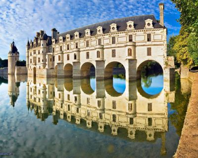 Château de Chenonceau – a Popular Tourist Attraction on the River, France