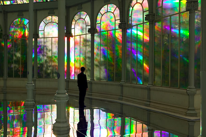 The Ephemeral Rainbows in Crystal Palace in Madrid, Spain