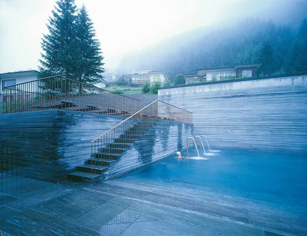 A relaxing vacation in therme vals thermal pools for Best relaxing vacation spots