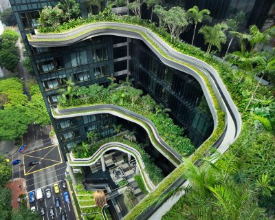 The Wonderful Sky Gardens in the Parkroyal on Pickering, Singapore