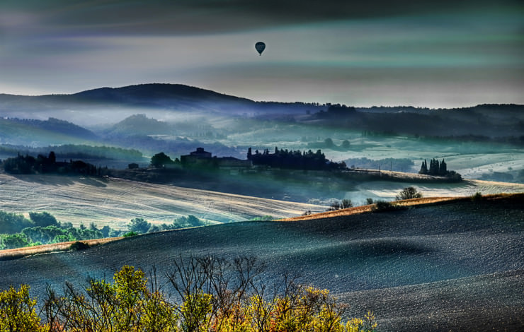 Top 10 Hot Air Ballooning-Tuscany-Photo by Giuseppe Peppoloni