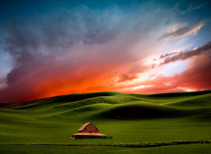 Picturesque Ancient Dunes in Palouse Region, USA | Places