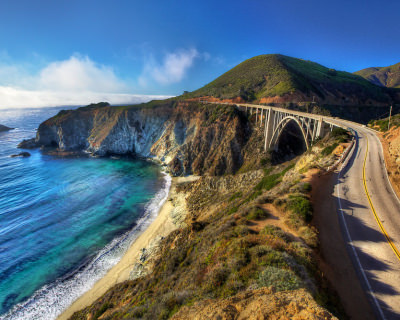 A Scenic Ride on the Iconic Bixby Bridge in Big Sur, USA