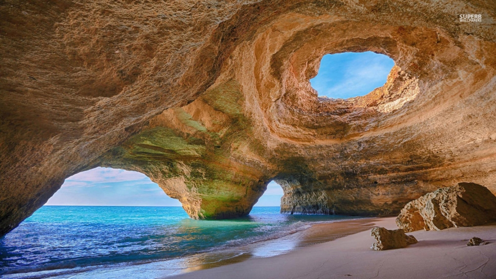 Dramatic Caves and Grottoes in the Algarve, Portugal