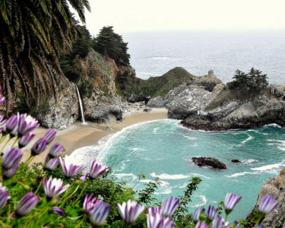 McWay Falls – an Ocean Waterfall in a Picturesque Cove, USA