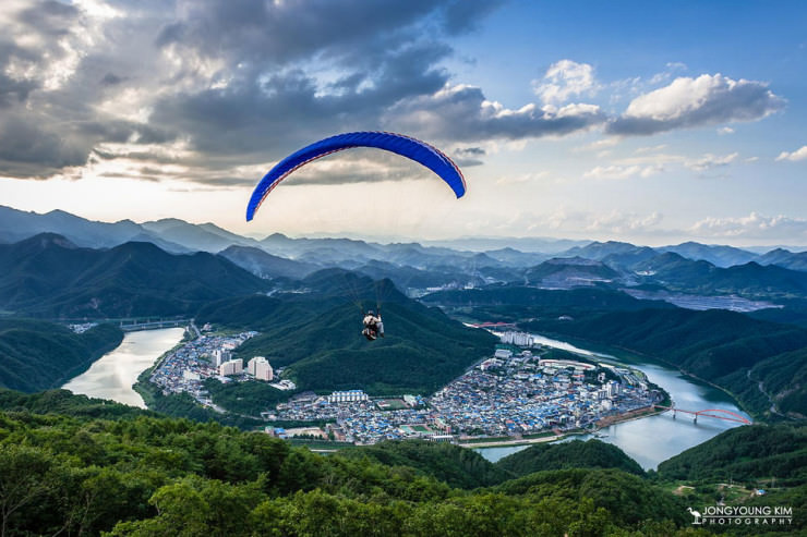 Top 10 Paragliding Sites-Danyang-Photo by JongYoung Kim