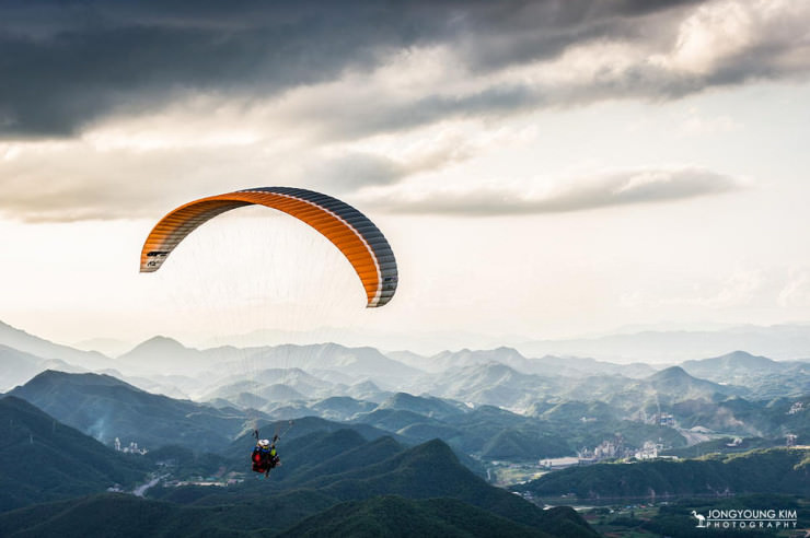 Top 10 Paragliding Sites-Danyang-Photo by JongYoung Kim2