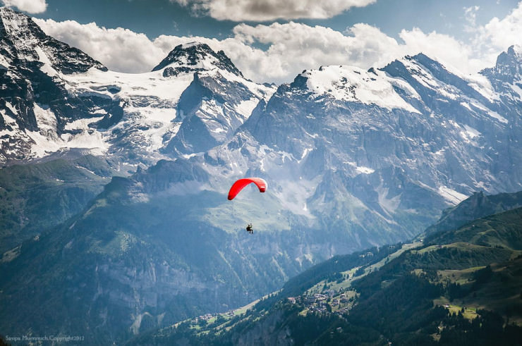Top 10 Paragliding Sites-Wengen-Photo by Sasipa Muennuch
