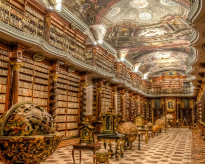 Theological Hall – a Beautiful Baroque Library in Prague, The Czech Republic