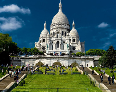 The Beautiful Basilica of the Sacred Heart in Paris, France