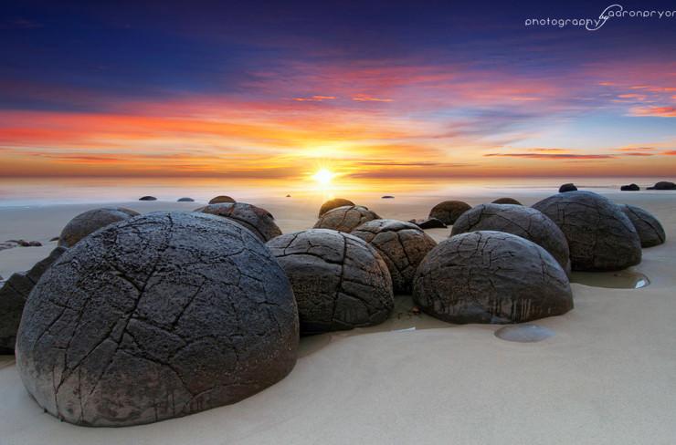 Top 10 Rock Formations-Moeraki-Photo by Aaron Pryor