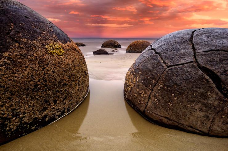 Top 10 Rock Formations-Moeraki-Photo by Byron Prukston